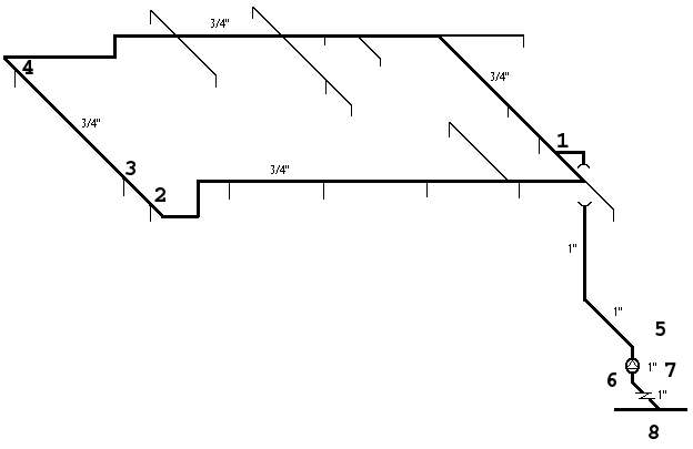 Sketch of House2 Piping